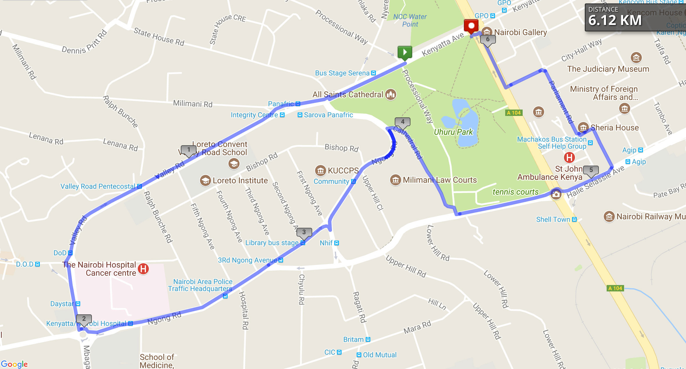 Integrity walk route image